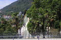 Вилла Camilla, местное правительство и здание муниципалитет с парком в Domaso Стоковое Изображение