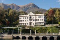 Вилла Carlotta на бечевнике озера Como, Италии Стоковые Изображения