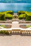 Вилла Carlotta на Tremezzo на озере Como Италии Стоковые Фото