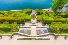 Вилла Carlotta на Tremezzo на озере Como Италии Стоковая Фотография RF