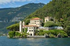 Вилла del Balbianello на озере Como стоковое изображение