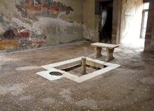 вилла herculaneum стародедовского города римская стоковое изображение