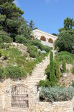 вилла terrase французского riviera bonne стоковые фотографии rf