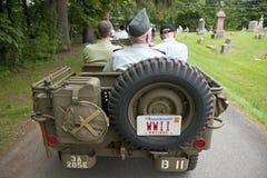 Виллис парада Дня памяти погибших в войнах Стоковое фото RF