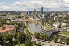 Вильнюс, Литва - 19-ое июля 2016: Взгляд города Вильнюса Стоковое Фото