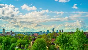 Вильнюс, Литва, панорамный промежуток времени сток-видео