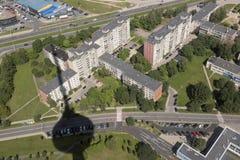 Вильнюс, Литва - Juliy 19 2016: Вид с воздуха Вильнюса Стоковая Фотография RF