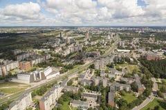 Вильнюс, Литва - Juliy 19 2016: Вид с воздуха Вильнюса Стоковые Изображения RF