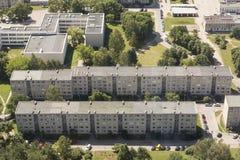 Вильнюс, Литва - Juliy 19 2016: Вид с воздуха Вильнюса Стоковые Фотографии RF