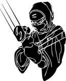 винил вектора ninja иллюстрации самолет-истребителя готовый иллюстрация вектора