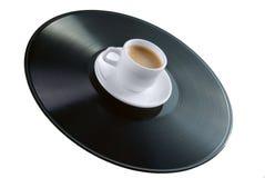 винил показателя кофейной чашки Стоковое Изображение RF