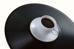 винил показателя кофейной чашки Стоковая Фотография RF