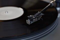 винил растра игрока изображения Вращающийся диск Головной конец-вверх Стоковые Изображения RF