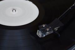 винил растра игрока изображения Вращающийся диск Головной конец-вверх Стоковое Изображение