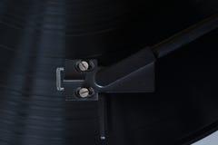 винил растра игрока изображения Вращающийся диск Головной конец-вверх Стоковые Изображения