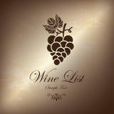 Винная карта виноградины бесплатная иллюстрация