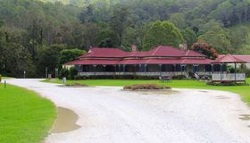 Винный погреб и ресторан в Canungra, горе Tamborine, Австралии Стоковые Фото