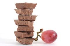 виноградина шоколада стоковая фотография