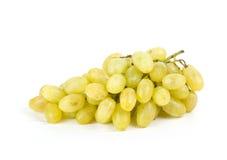 Виноградины белые на белизне Стоковые Фото
