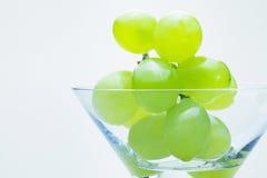 Виноградины в стекле Стоковые Изображения