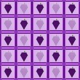Виноградины в фото обрамляют положенный вне в форме плиток бесплатная иллюстрация