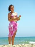 виноградины милой еды женские Стоковая Фотография RF