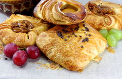 виноградины плюшек хлебопекарни сладостные Стоковые Фото
