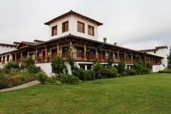 виноградник деревенского дома Чили Стоковые Изображения