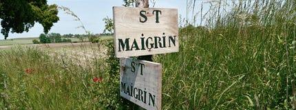 виноградник знака деревянный Стоковые Фотографии RF