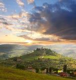 виноградник Тосканы chianti стоковое изображение rf