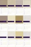 Виноградина и ноготк покрасили геометрический календарь 2016 картин Стоковое Изображение RF