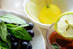 Виноградина и spearmint whith чая Стоковое Фото