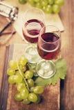 Виноградина с вином Стоковые Фотографии RF