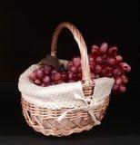 Виноградины в корзине Стоковые Изображения RF