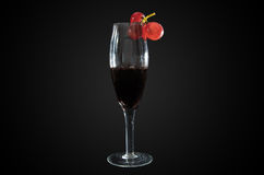 Виноградины, и вино Стоковые Изображения