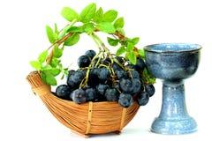 Виноградины корзины Стоковая Фотография