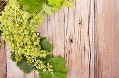 Виноградины на деревянной планке Стоковое фото RF