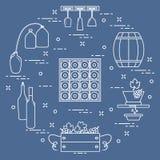 Виноделие: продукция и хранение вина Культура питья Стоковые Фото