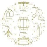 Виноделие: продукция и хранение вина Культура питья Стоковая Фотография