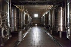 вино баков нержавеющей стали mendoza Аргентины Стоковое фото RF