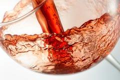 Вино брызгая на стекле Стоковая Фотография RF