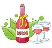 вино бутылки красное Стоковые Изображения
