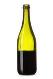 вино бутылки половинное красное Стоковое фото RF