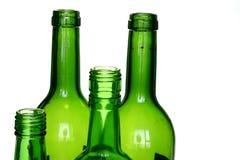 вино бутылочного зеленого стоковые изображения rf