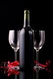 вино бутылочного стекла красное Стоковая Фотография