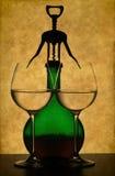 вино бутылочного стекла предпосылки Стоковая Фотография