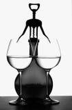 вино бутылочного стекла предпосылки Стоковое фото RF