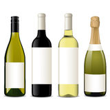 вино вектора бутылок Стоковое Изображение RF