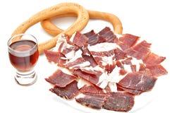 вино ветчины Стоковая Фотография RF