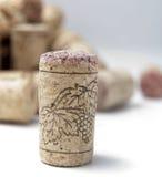 вино виноградины пробочки Стоковые Изображения RF